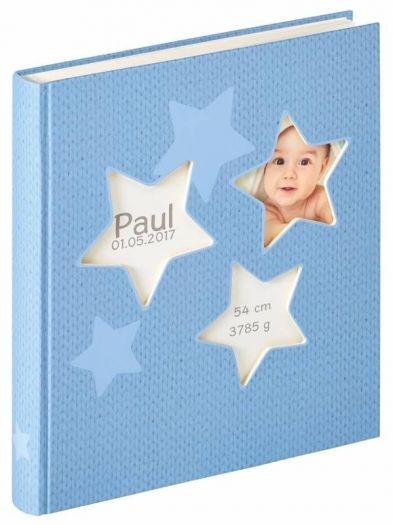 Walther UK-133-L Babyalbum Estrella blau 28x30,5 50 weiße Seiten