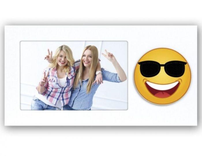 Zep PW4946 Holzbilderrahmen Emoji 3 Sonnenbrille 10x15cm