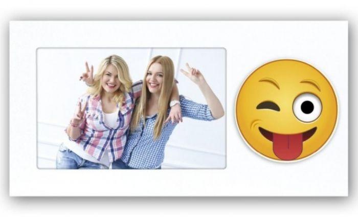 Zep PW5546 Holzbilderrahmen Emoji 2 zwinkern 10x15cm