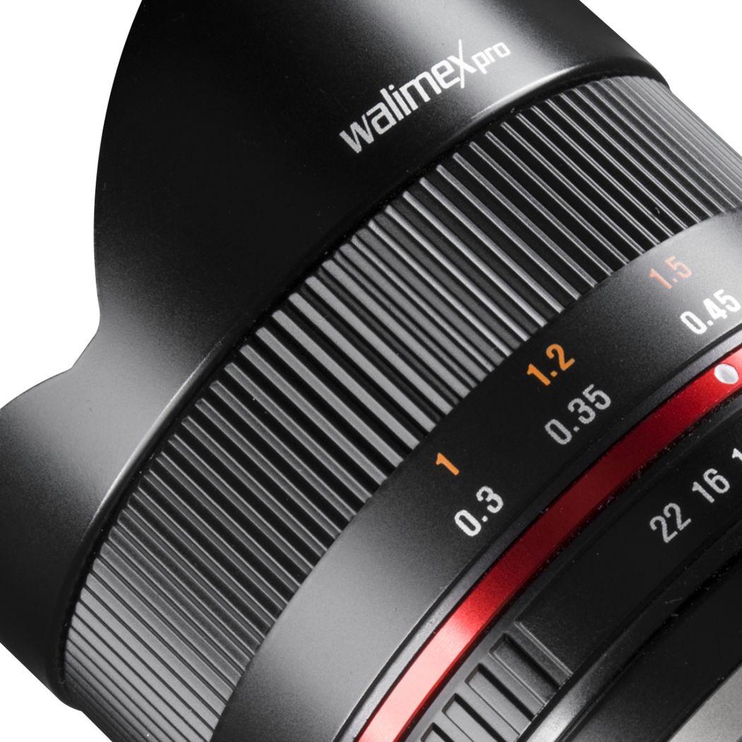 walimex pro 8//2,8 Fish-Eye Objektiv II CSC für Sony E schwarz