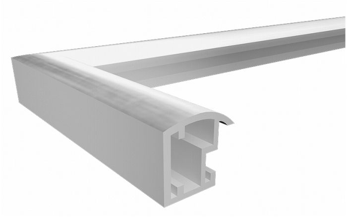 Kunststoffrahmen TRENDSTYLE 30x40 cm silber-metallic