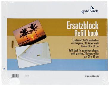 Goldbuch Ersatzblock 83 078 weiß 38x30 cm für Schraubalben 31x39cm