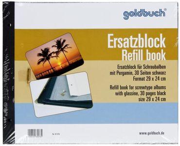 Goldbuch Ersatzblock 83 076 schwarz 29x24cm für Schraubalben 30x25cm