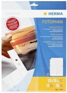 Herma Fotophan-Sichthüllen 20x30 cm weiß 7589