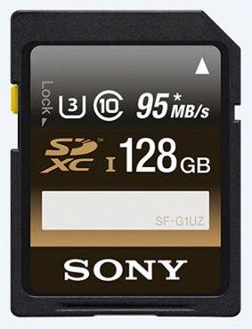 Sony SFG1UZ SDXC 128GB Professional Class10 UHS-I U3 95MB/90MB/Sekunde