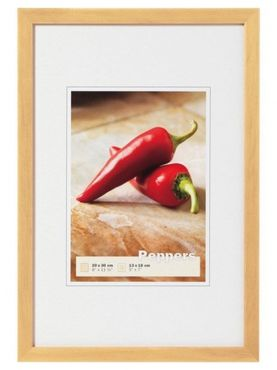 Walther Holzrahmen BP520H Peppers 15x20 natur